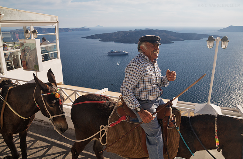 Mule driver. I bet he remembers the days before cruiseships and Ryanair.