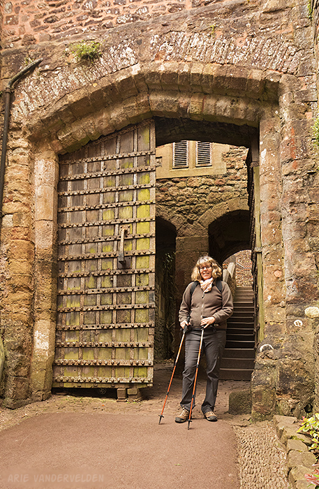 Dunster castle gate