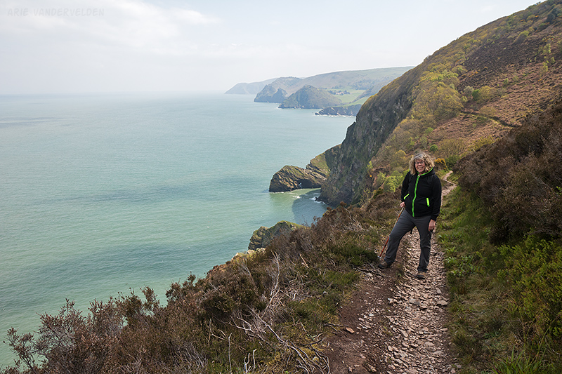 Trail between Lynton and Combe Martin.