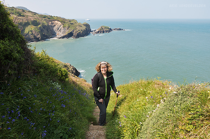 Diana hiking.
