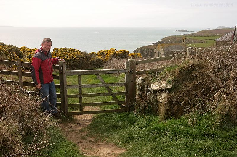 Pembrokeshire coastal path near St. Davids