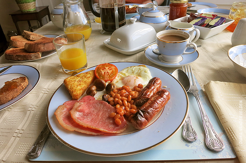 A full English (or Welsh) breakfast.
