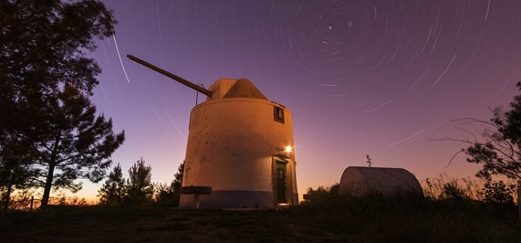 Staying in a windmill, Alentejo, Portugal
