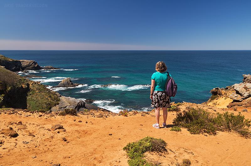 A sandy trail continued down the coast.