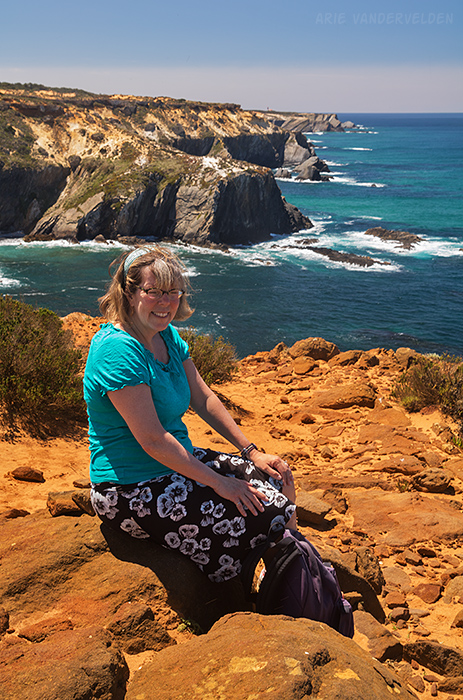 Diana enjoying some wonderful views.