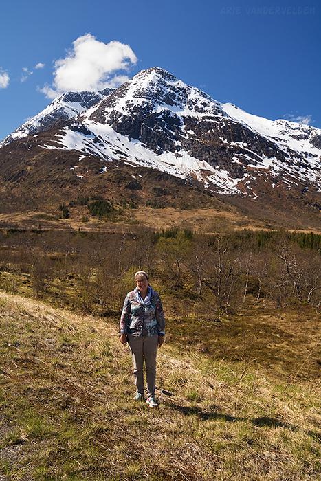 Diana at the interpretive trail.