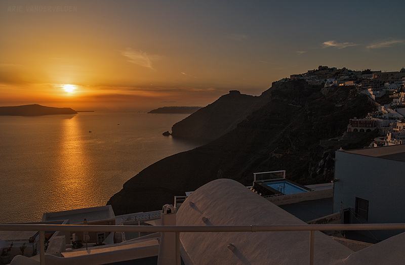 Sunset, Fira.
