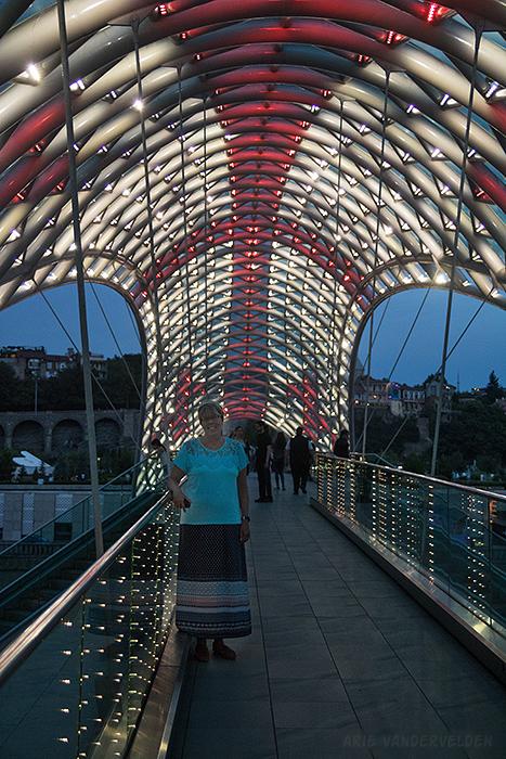 Diana on the Peace Bridge.