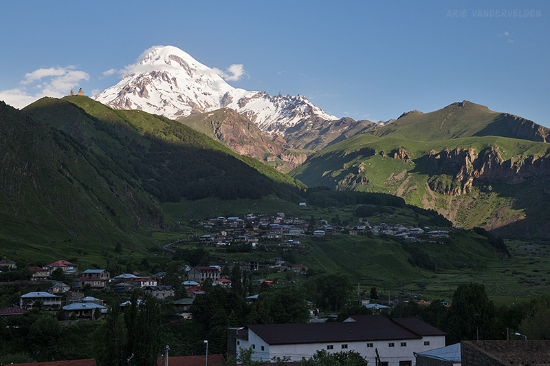 Morning Views towards Mount Kazbek.