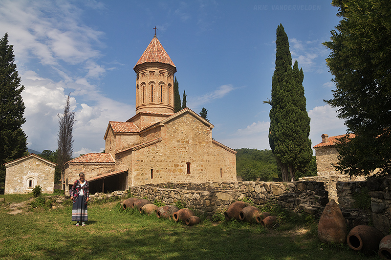 Diana at the Ikalto Monastery.