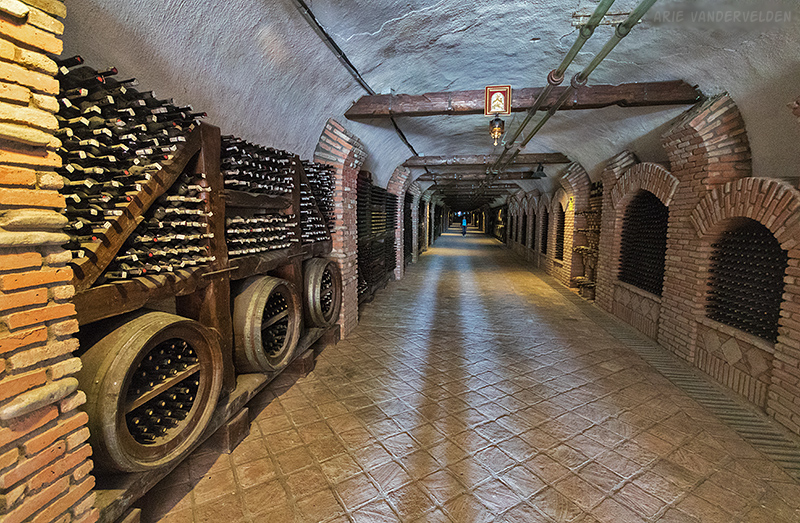 A tunnel full of wine.