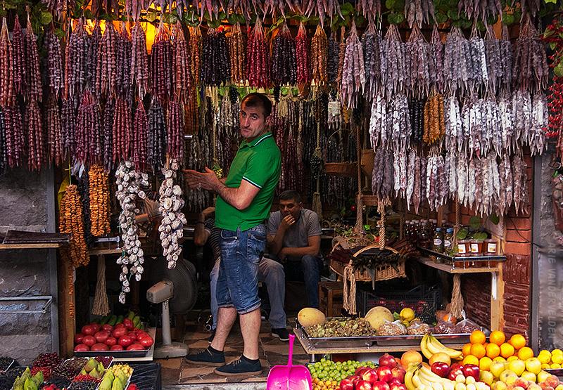Churchkhela shop, Tbilisi.