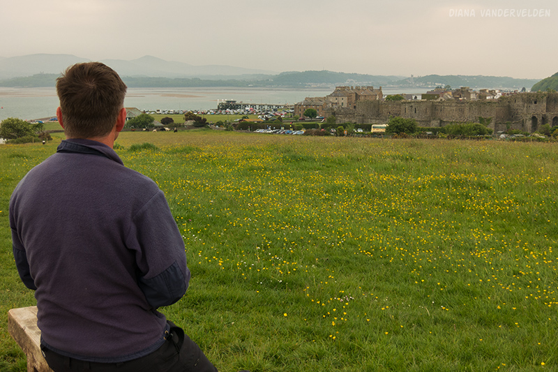 Looking toward Beaumaris castle.