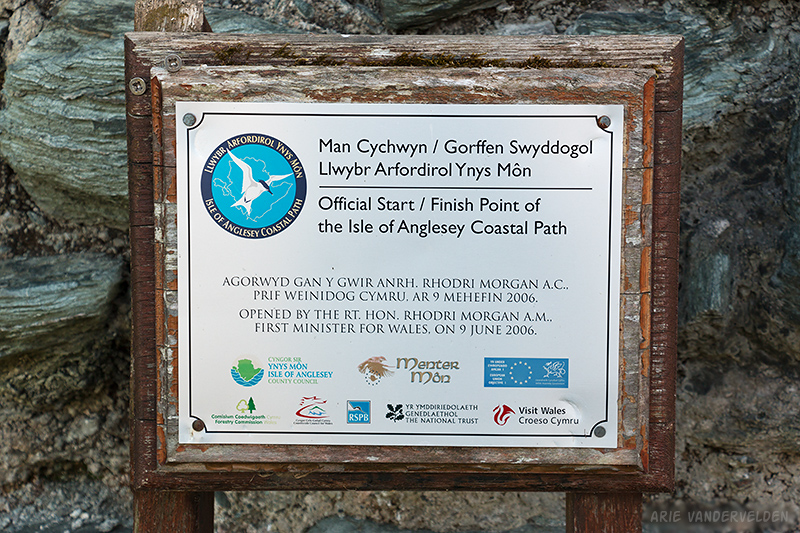 Start of the Anglesey Coastal Path.