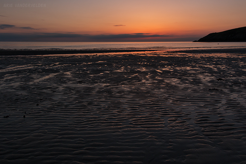 Sunset, Church Bay.