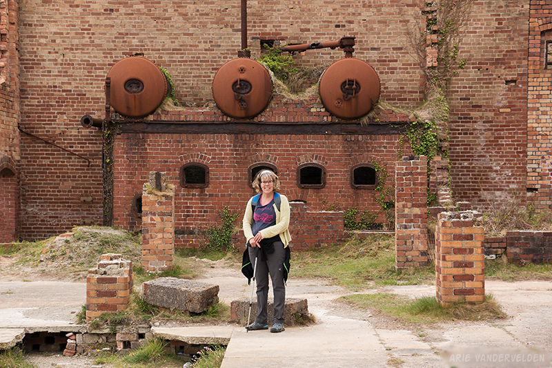 Boilers at the Porth Wen brickworks.