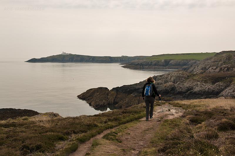 Approaching Porth Eilian.