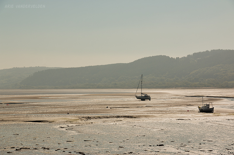 Red Wharf Bay at low tide.