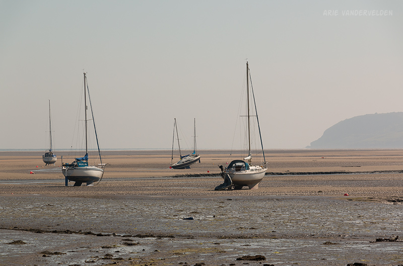 Yachts at low tide.