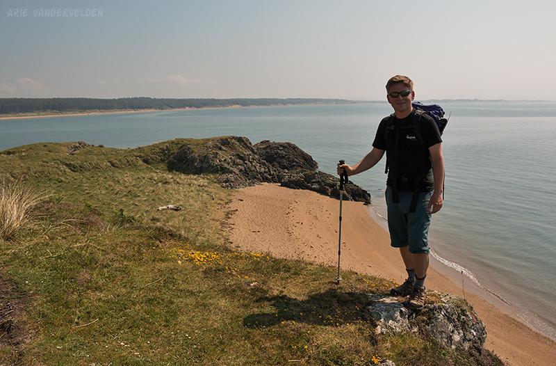 Arie at Llanddwyn Island.