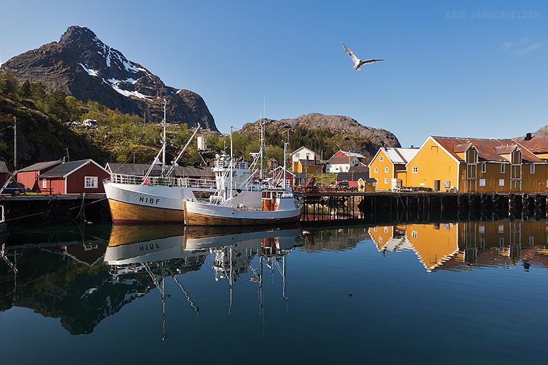 Nusfjord inner harbour.