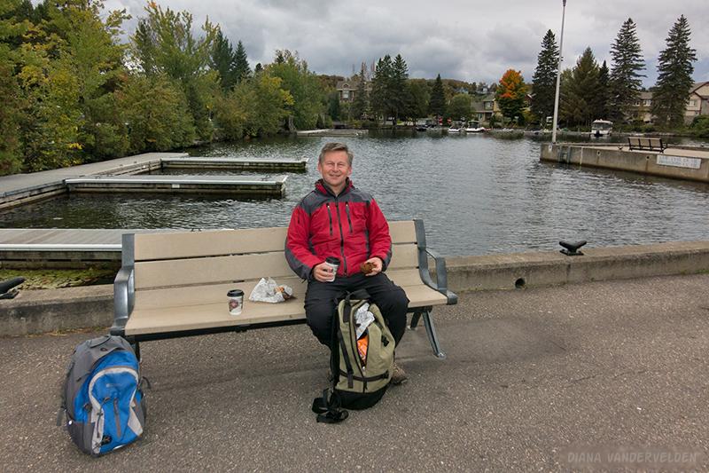Taking a break at Lac des Sables.