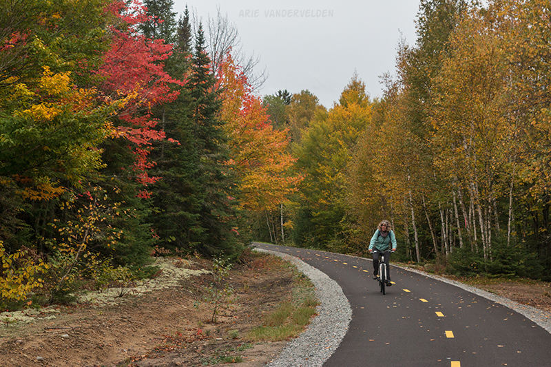 A newly paved section of trail.