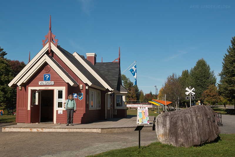 Val-David railway station.