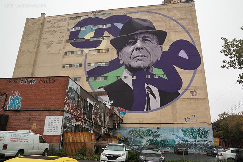 Leonard Cohen mural.