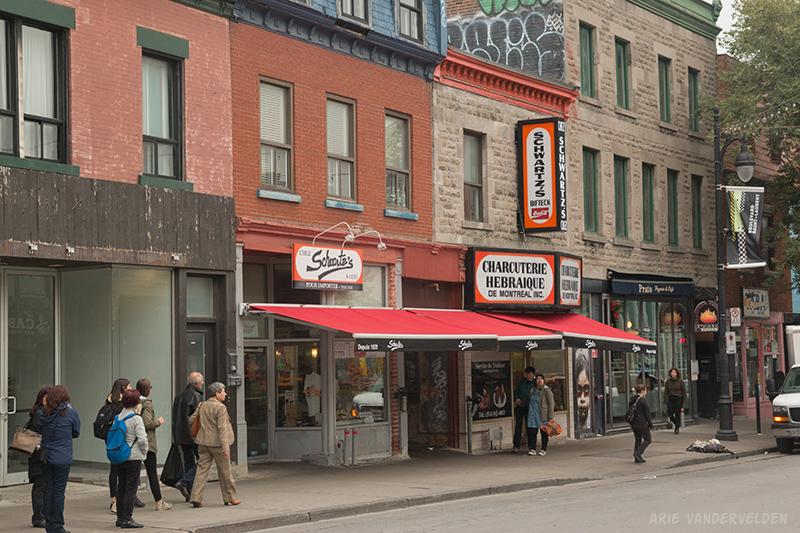 Schwartz's deli, a Montreal institution.