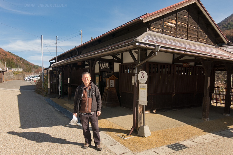 Arie at the Narai train station.