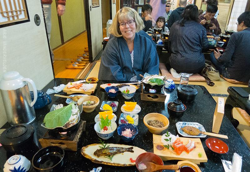 Dinner in Tsumago.