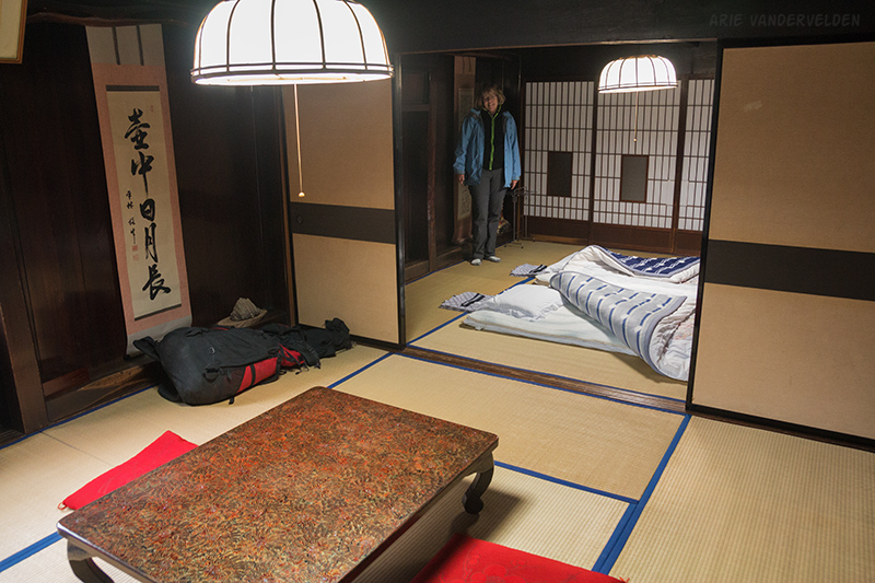 We used two rooms in the minshuku: one as a bedroom and one as a dining room and place to relax.