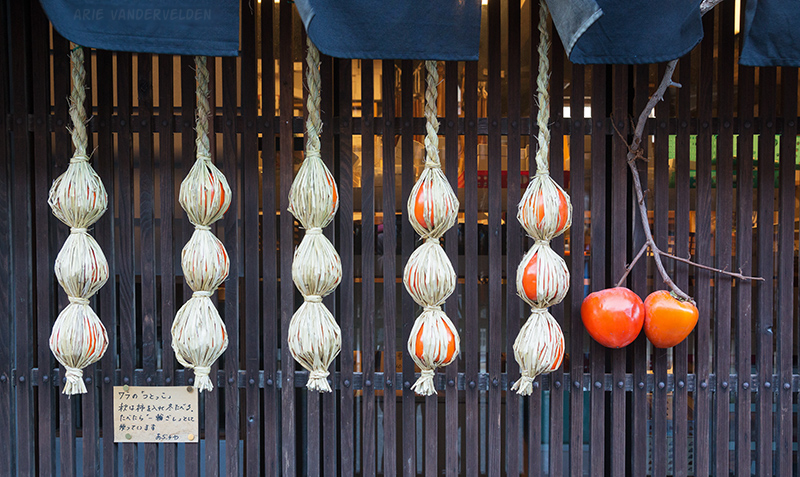 Persimmons drying.