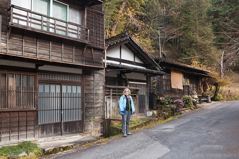 Diana on the outskirts of Tsumago.