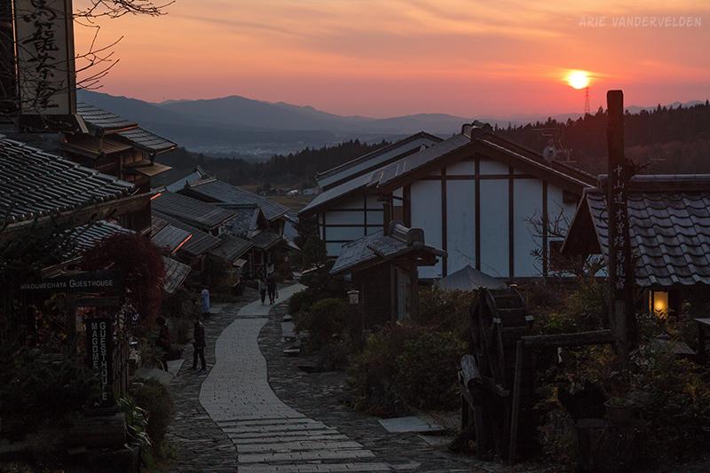 Sunset, Magome.