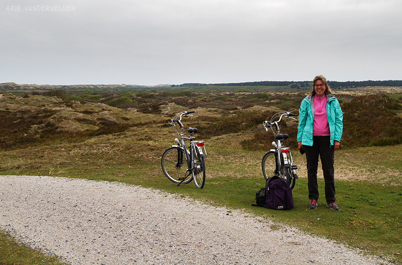 Cycling through the dunes.