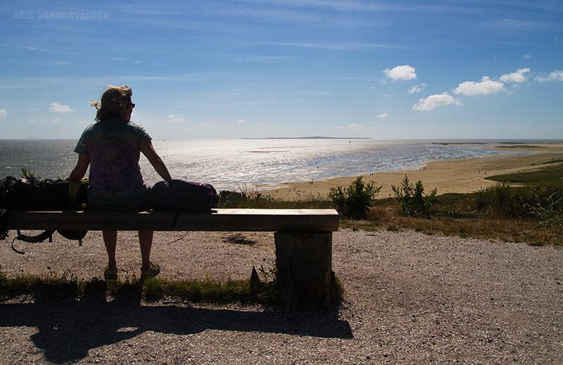 Looking west across the Waddenzee towards the island of Vlieland.