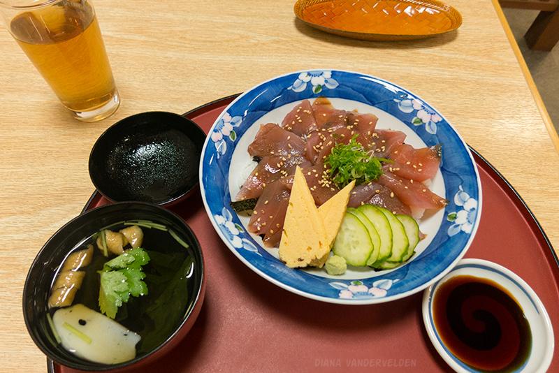 Tuna sashimi. Yum!