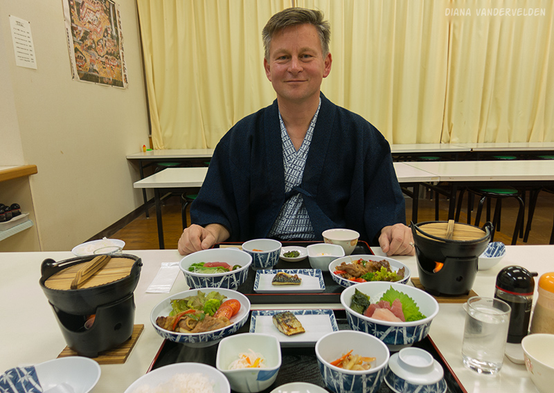 Dinner at Koguchi Shizen-no-ie.