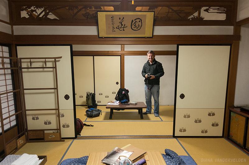Our room at Kumagaiji Temple.