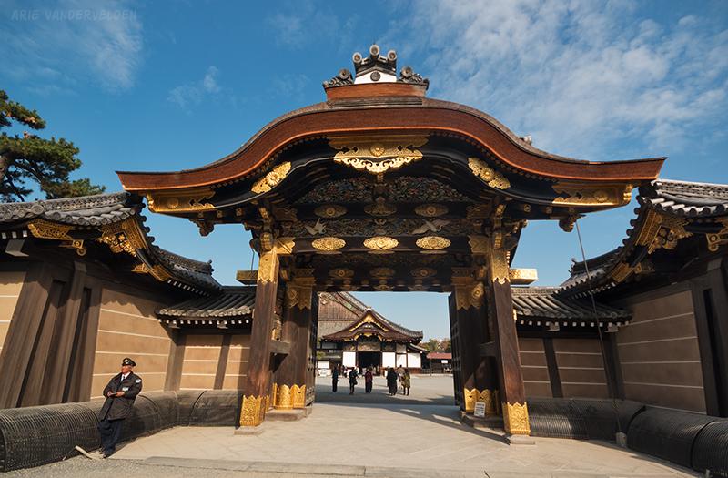 Nijo castle gate.