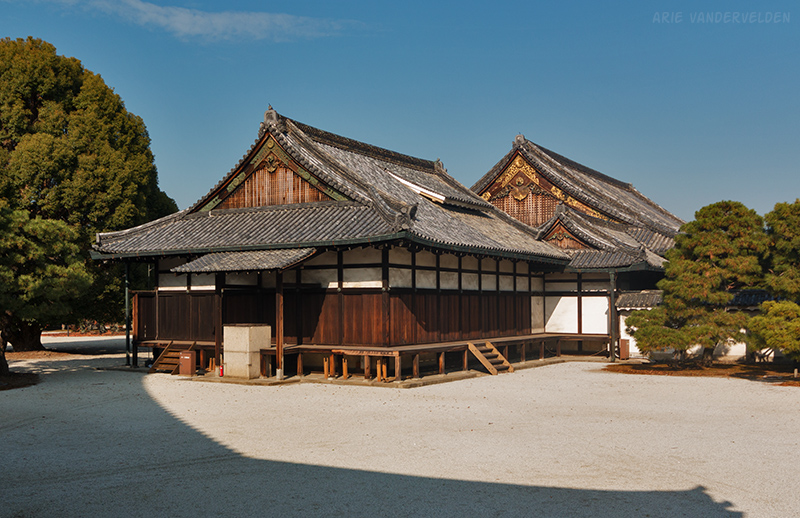 Palace buildings inside Nijo castle.