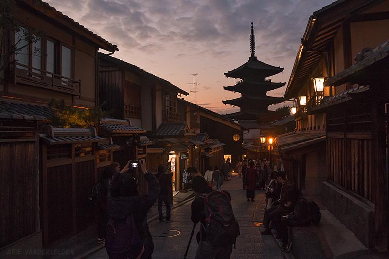 Pagoda at sunset.