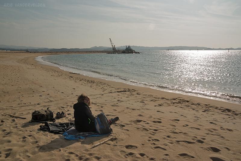 Diana at Tanabe Beach.