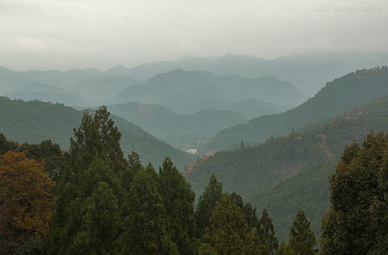Mountains of the Kii Peninsula.
