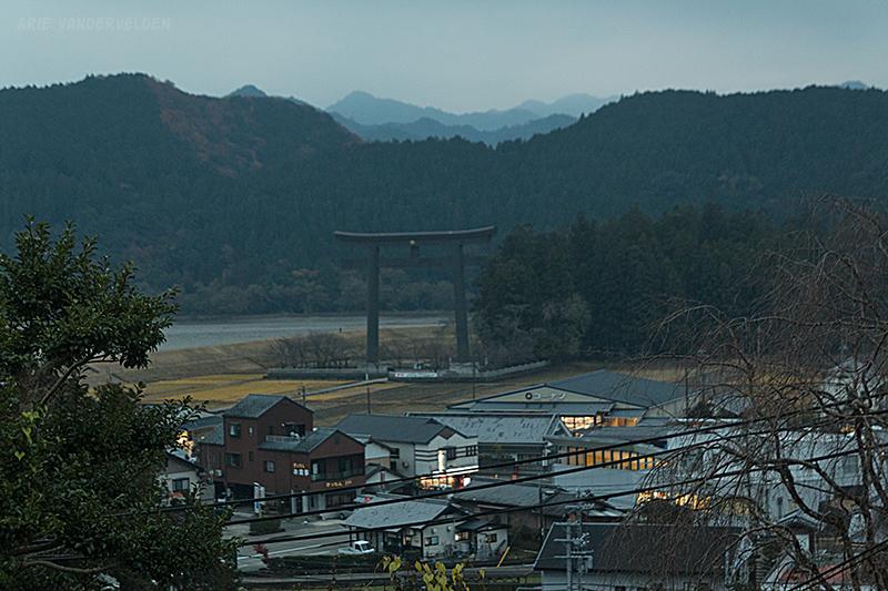Our destination: the giant Torii gate in Hongu.