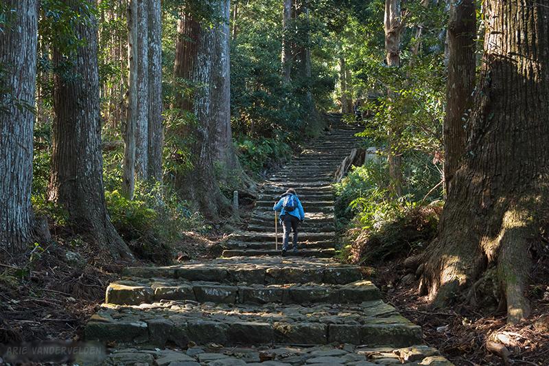 Hiking up toward Nachisan.